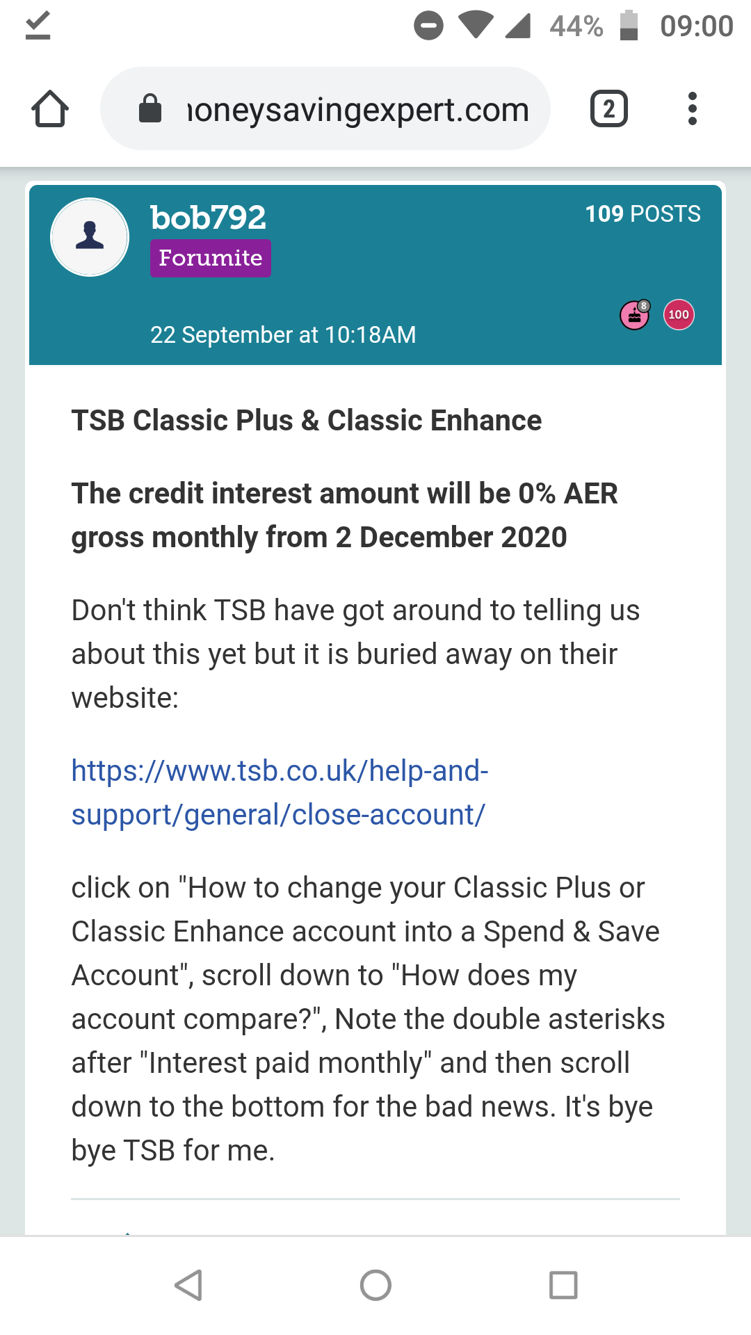 TSB classic plus and Classic Enhance interest rates reduction to 20 ...
